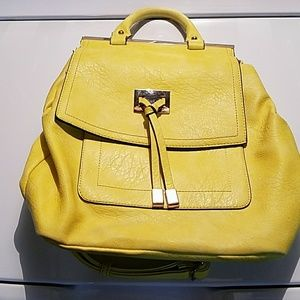 Yellow Backpack Purse